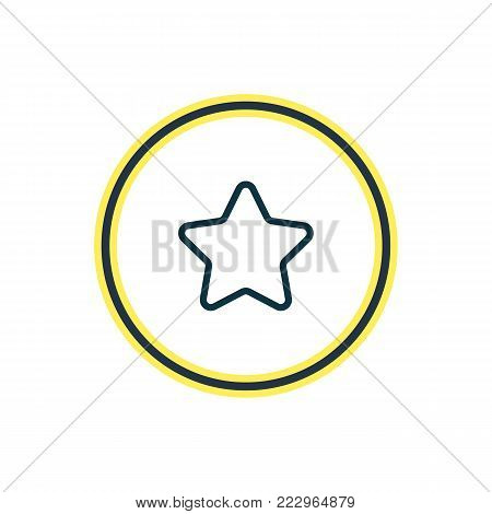 Vector illustration of star icon line. Beautiful annex element also can be used as rating icon element.