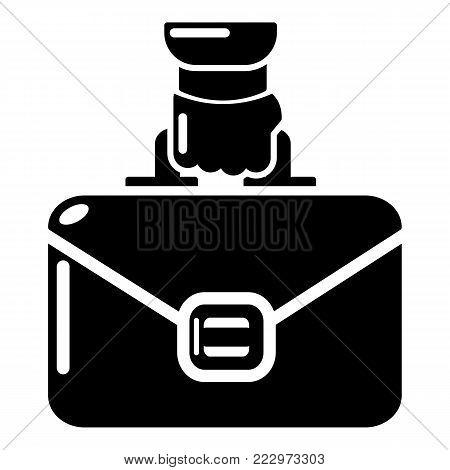 Portfolio icon. Simple illustration of portfolio vector icon for web