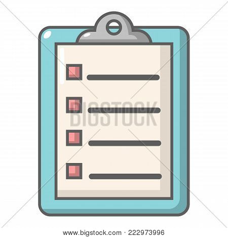 Check list icon. Cartoon illustration of check list vector icon for web