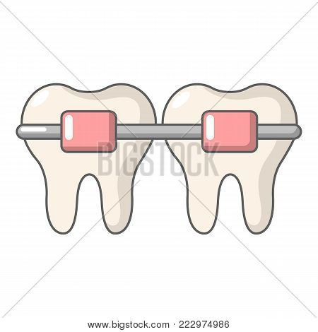 Dental brace icon. Cartoon illustration of dental brace vector icon for web