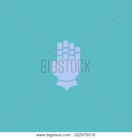 Gauntlet icon flat element. Vector illustration of gauntlet icon flat isolated on clean background for your web mobile app logo design.