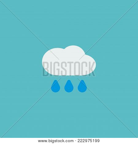 Rain icon flat element. Vector illustration of rain icon flat isolated on clean background for your web mobile app logo design.