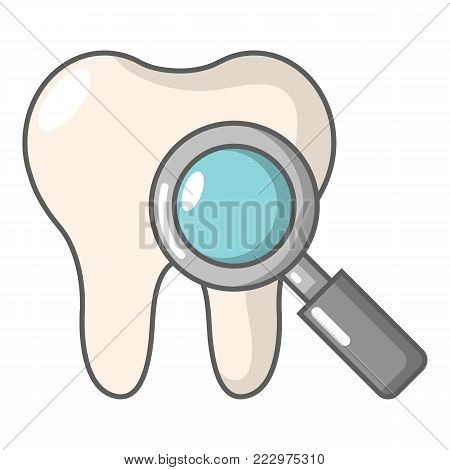 Dental examination icon. Cartoon illustration of dental examination vector icon for web