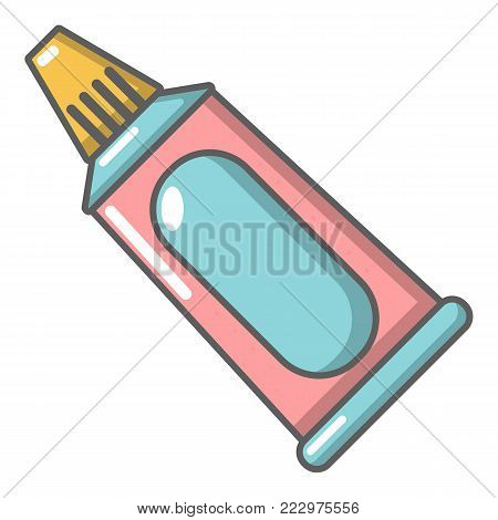Toothpaste tube icon. Cartoon illustration of toothpaste tube vector icon for web