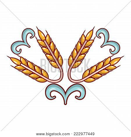 Wheat icon. Cartoon illustration of wheat vector icon for web.