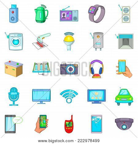 Fix up icons set. Cartoon set of 25 fix up vector icons for web isolated on white background