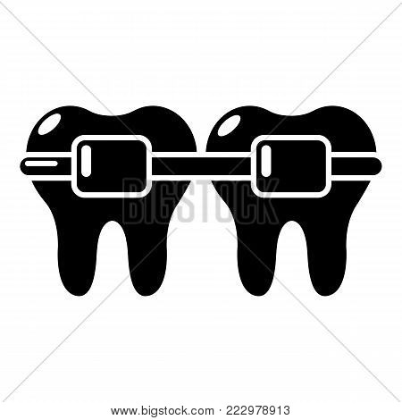 Dental brace icon. Simple illustration of dental brace vector icon for web