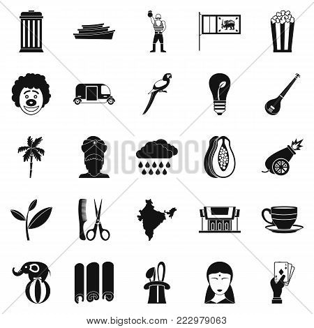 Beastly icons set. Simple set of 25 beastly vector icons for web isolated on white background
