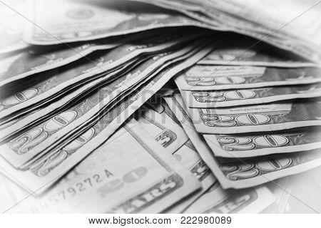 Twenties Black & White Close Up High Quality Stock Photo