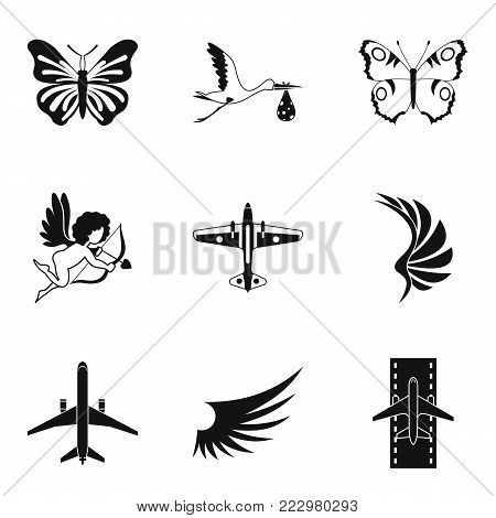 Rise icons set. Simple set of 9 rise vector icons for web isolated on white background