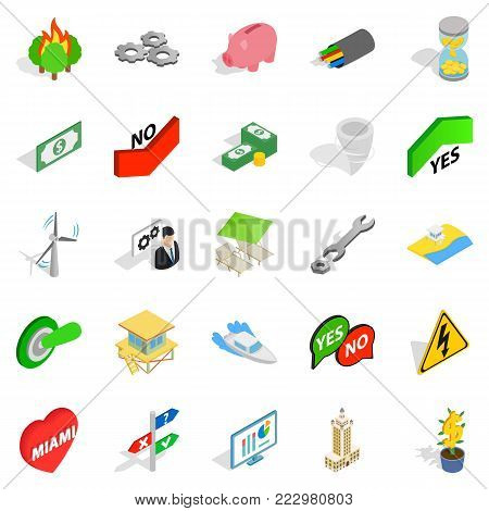 Checkbox icons set. Isometric set of 25 checkbox vector icons for web isolated on white background
