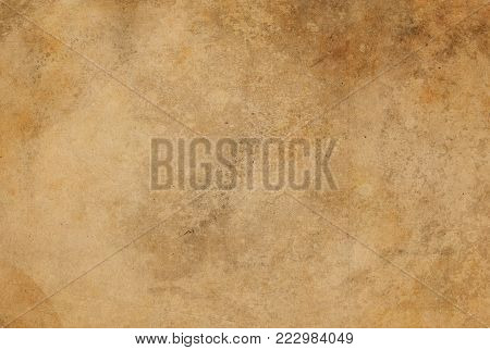 Aged dirty and rusty paper texture. Grunge paper for design.