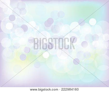abstract bokeh background. Festive defocused lights.Vector illustration