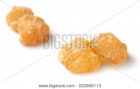 Pure Organic Frankincense Resin isolated on the white background