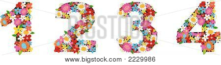 Alphabets Spring Flowers (Vector)