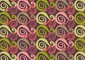 whirly purple and pink (vector) - illustrated background poster