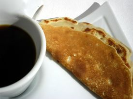Pancake with coffee