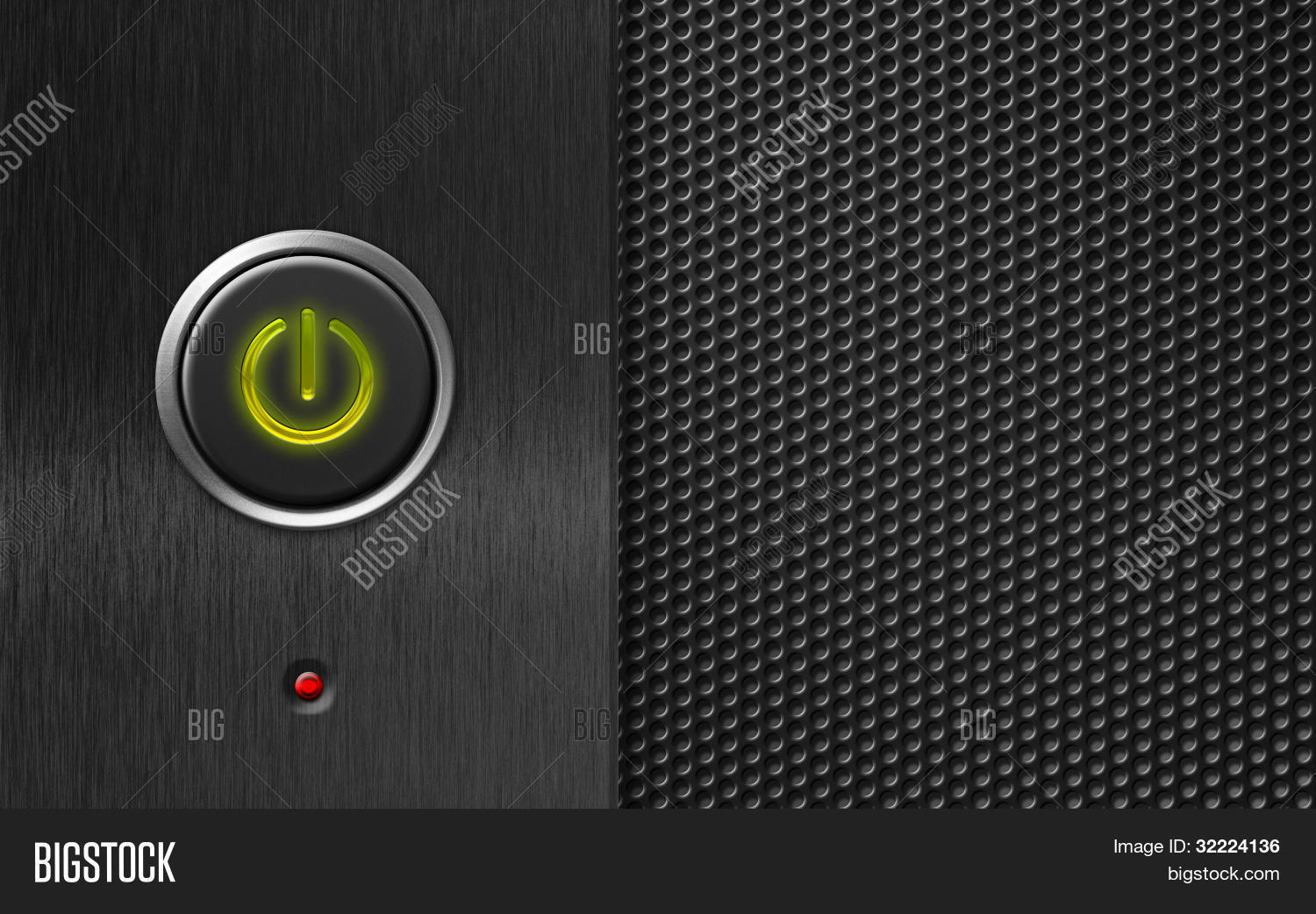 Power Button On Pc Image & Photo (Free Trial) | Bigstock