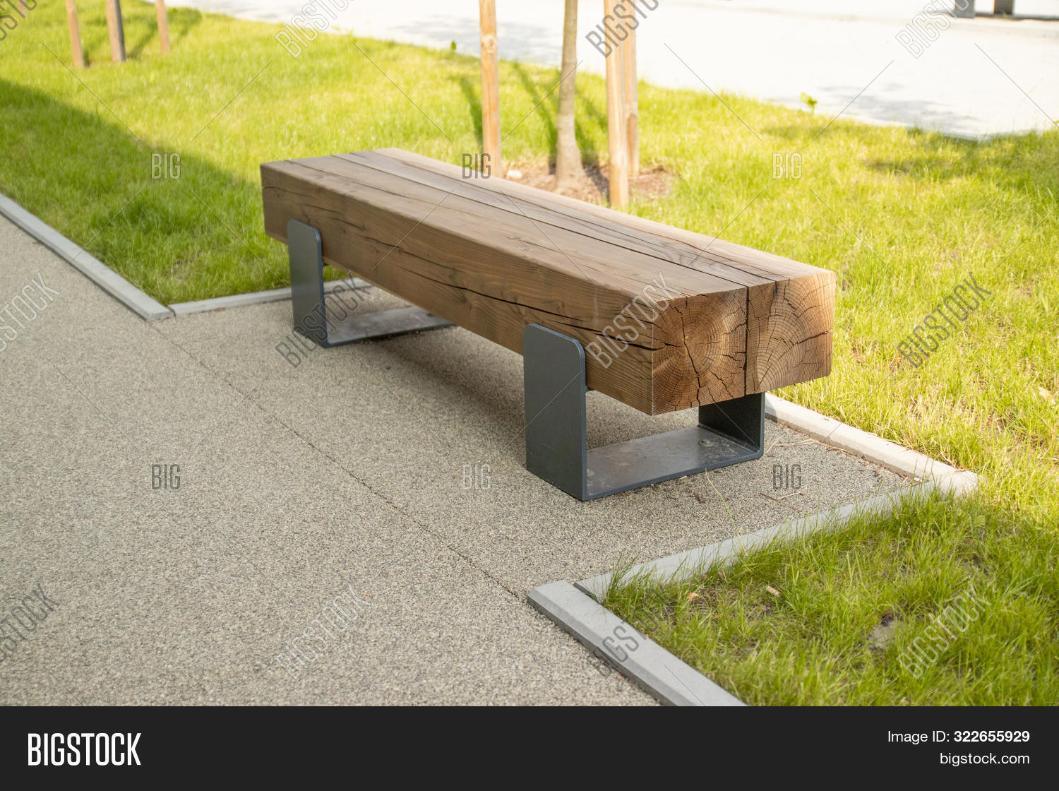 Magnificent Street Wooden Bench Image Photo Free Trial Bigstock Pdpeps Interior Chair Design Pdpepsorg