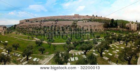 Walls And Jewish Cemetery. Jerusalem