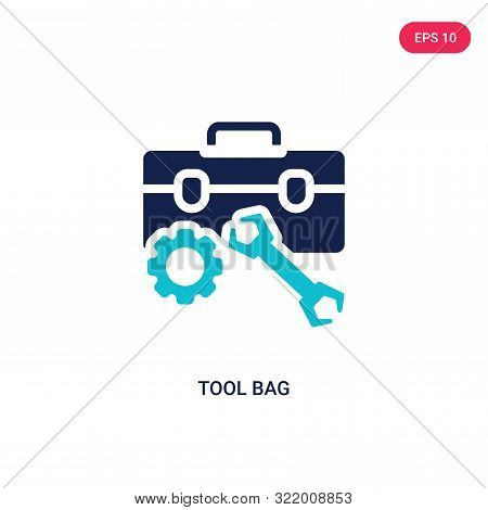 tool bag icon in two color design style.