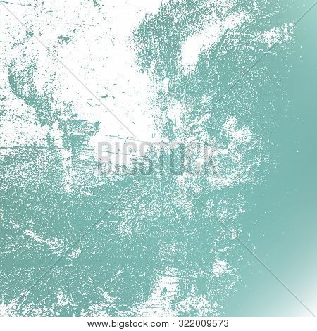 Distressed Grunge Cold Blue Color Texture For Making Your Design Aged. Dirty Empty Background. Frost