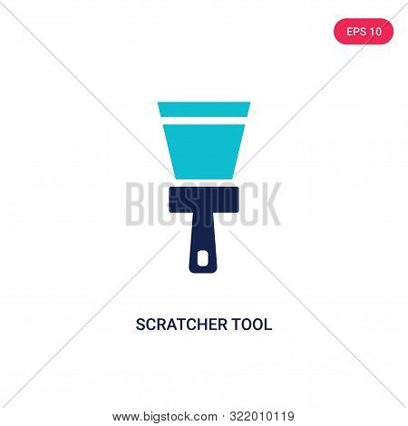 scratcher tool icon in two color design style.