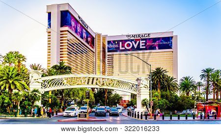 Las Vegas, Nevada/usa - June 8, 2019:  The Mirage Resort And Casino On Las Vegas Boulevard, Also Cal