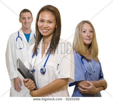 Doctor,Nurse And Intern