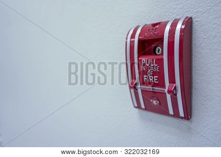 The Switch Fire Alarm Color Red In Building
