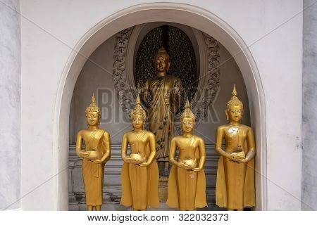 The Buddha Statue In Nakhon Pathom Province Of Thailand