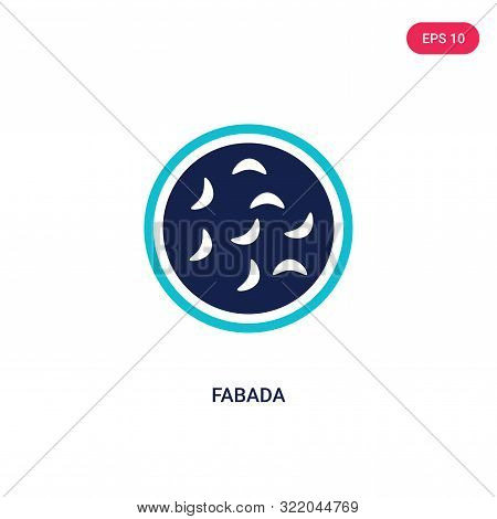 fabada icon in two color design style.