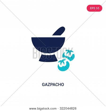 gazpacho icon in two color design style.