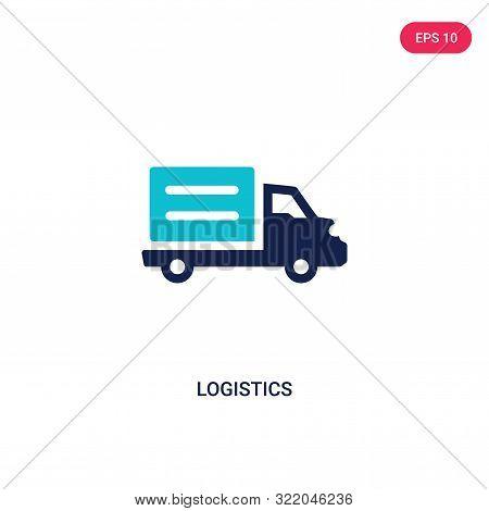 logistics icon in two color design style.