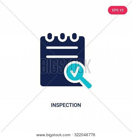 inspection icon in two color design style.