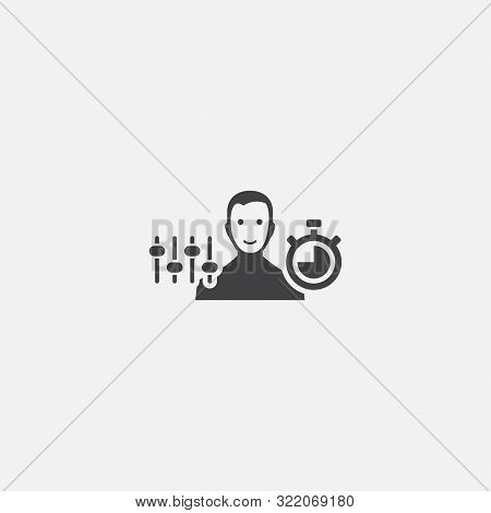 Discipline Base Icon. Simple Sign Illustration. Discipline Symbol Design. Can Be Used For Web, And M