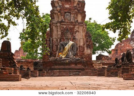 Ancient image buddha statue in Thailand