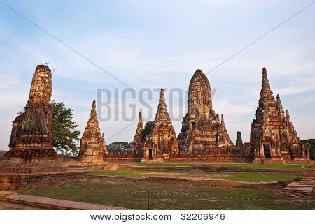 Chaiwatthanaram ancient Temple ancient capital Ayutthaya