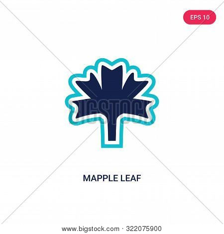 mapple leaf icon in two color design style.
