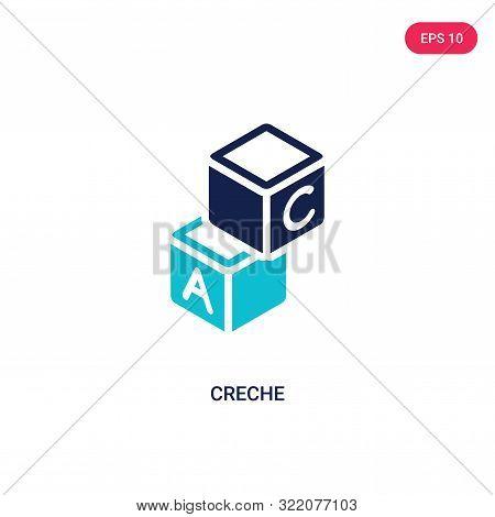 creche icon in two color design style.