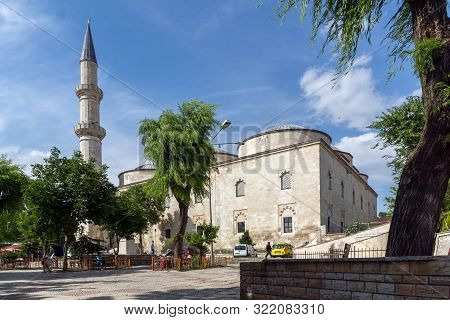 Edirne, Turkey - May 26, 2018: Medieval Building Of Eski Camii Mosque In City Of Edirne,  East Thrac