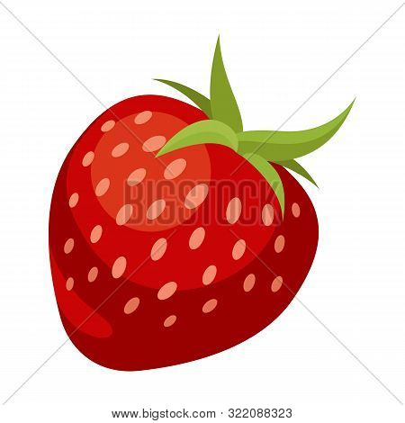Strawberry Colorful Logo. Strawberry Cartoon Style Symbol. Isolated On A White Background.