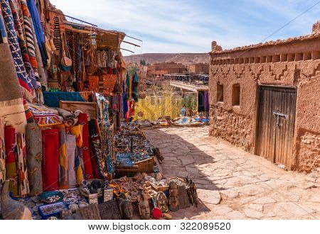 Streets In The Fortified Town Of Ait Ben Haddou Near Ouarzazate On The Edge Of The Sahara Desert In