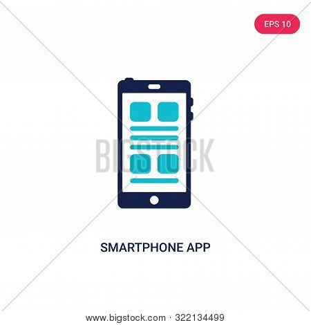 smartphone app icon in two color design style.
