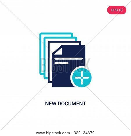 new document icon in two color design style.