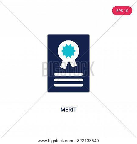 merit icon in two color design style.