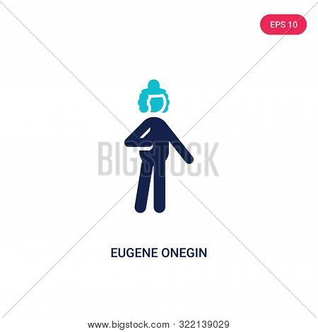 eugene onegin icon in two color design style.