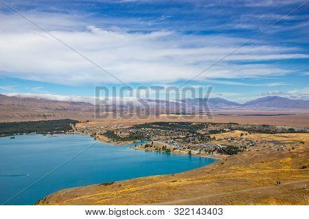 View Of Lake Tekapo From Mount John Observatory