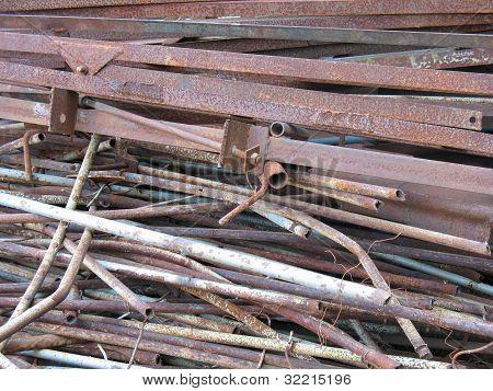 Abstract  Rusty Scrap Metal Junk Iron Garbage