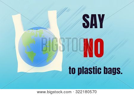 Say No To Plastic Bags. World Environment Day Concept.